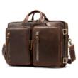 WESTAL férfi táska valódi bőr aktatáska, hátitáska egyben BY432