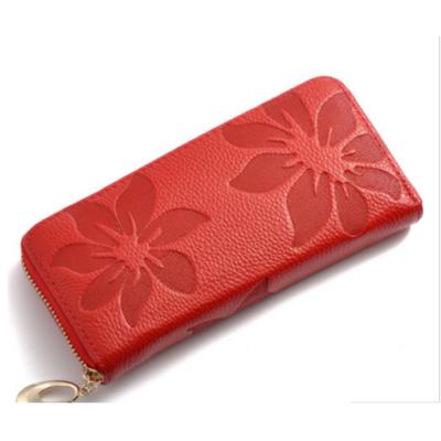 Flowers női bőr pénztárca P048