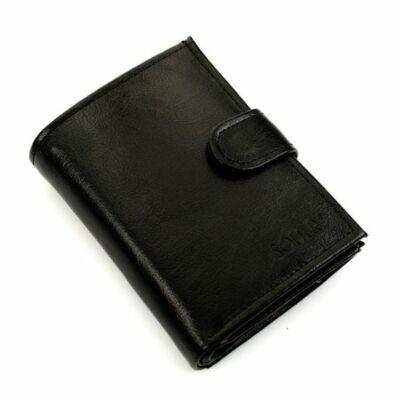 SOLIER férfi bőr pénztárca SW04 fekete