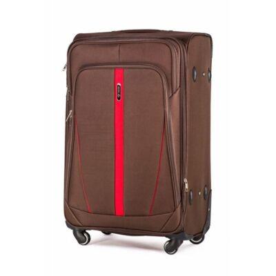 Solier utazó bőrönd M STL1706 kávé