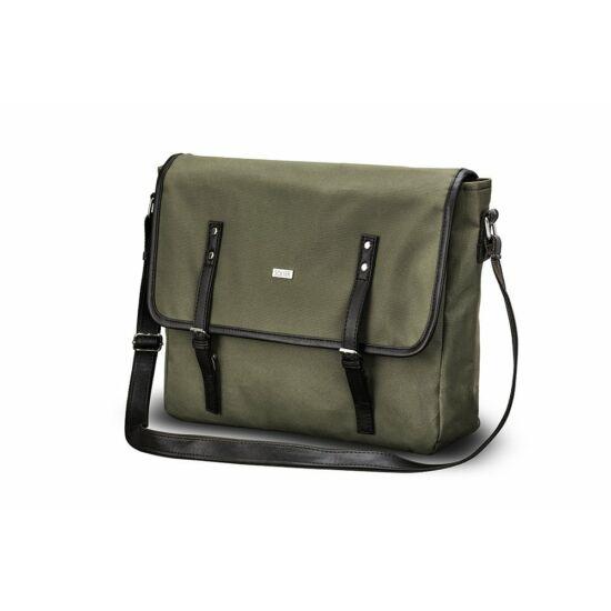 Solier férfi vászon táska  S17 zöld