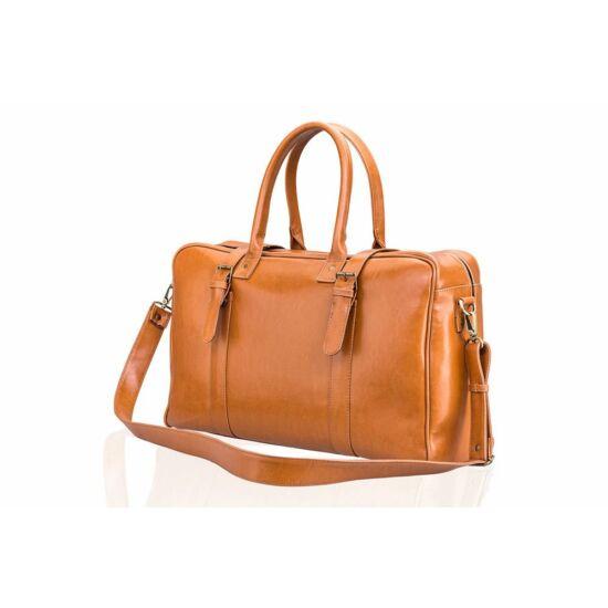 Solier férfi bőr táska SL16 HAMILTON utazó táska világos barna