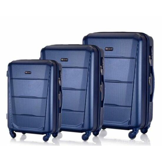 SUITCASE bőrönd szett STL946 ABS sötétkék
