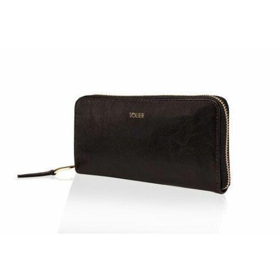 Solier női bőr pénztárca P02 barna