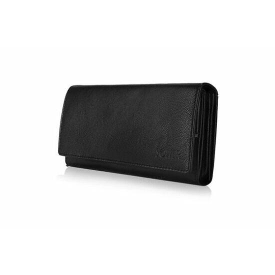 Elegáns női bőr pénztárca Solier P26 fekete