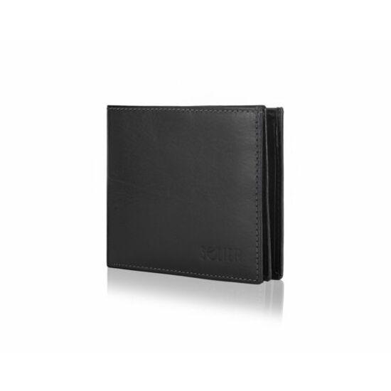 RFID SOLIER elegáns férfi bőr pénztárca SW29 fekete