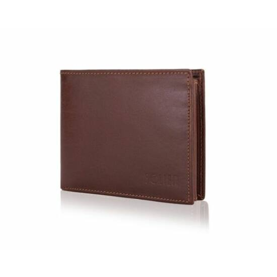 RFID Solier elegáns férfi bőr pénztárca SW29 barna