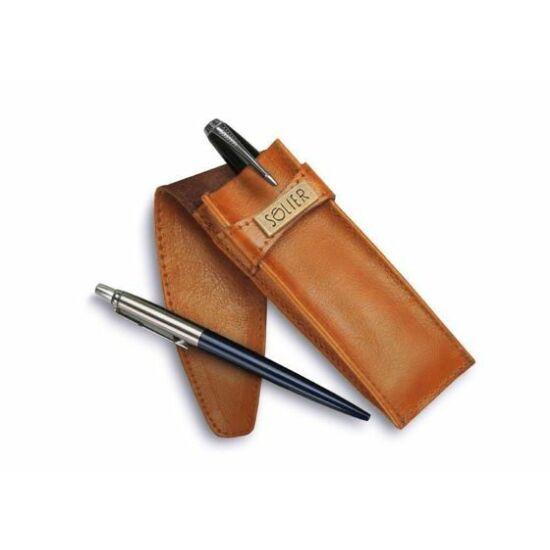 Bőr férfi tolltartó tok SA12 karamell