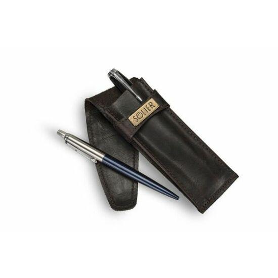 Bőr férfi tolltartó SA12 sötétbarna