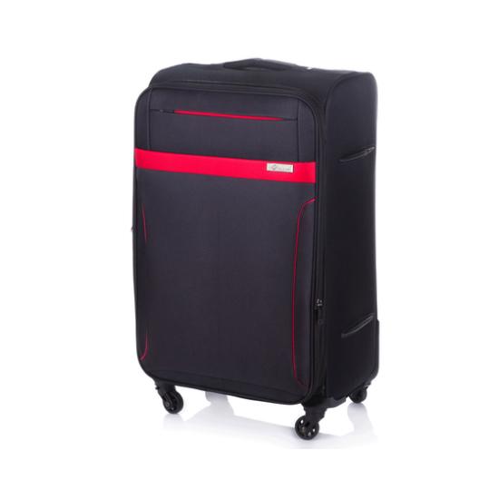 Solier utazó bőrönd M STL1316 fekete-piros