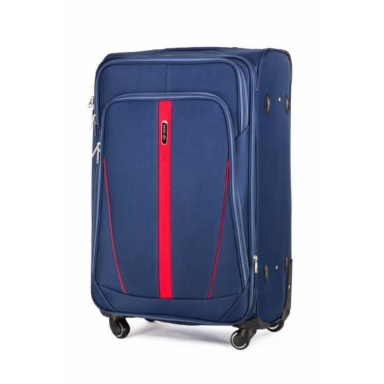 Solier utazó bőrönd STL1706 kék