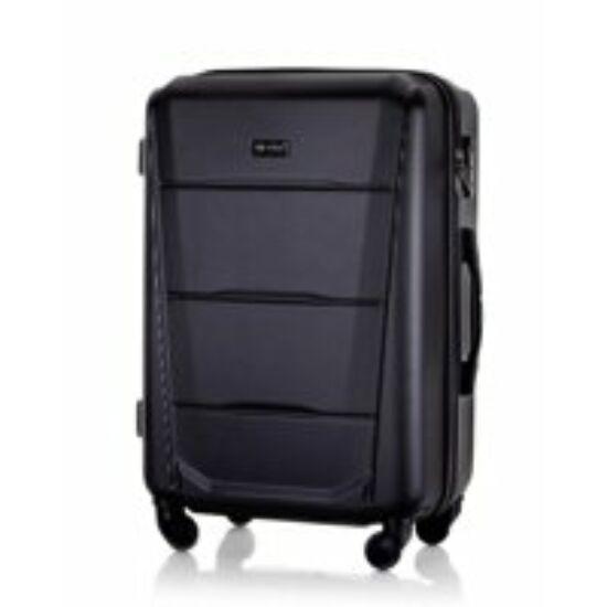 Solier utazó bőrönd, poggyász STL946 ABS FEKETE
