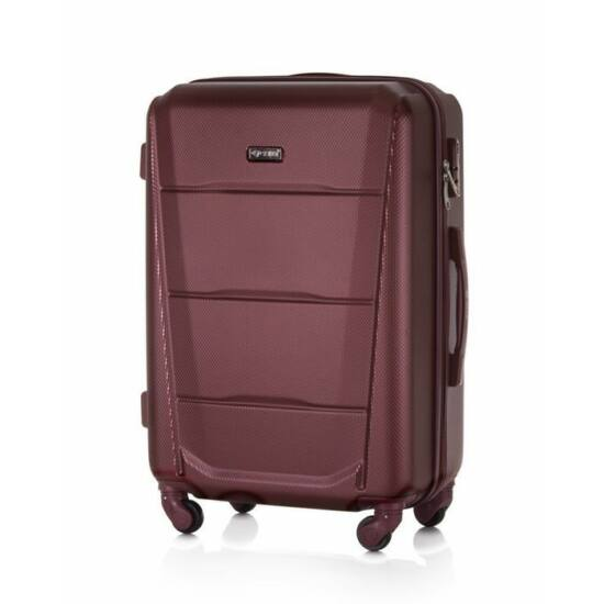 SUITCASE bőrönd M STL946 ABS bordó