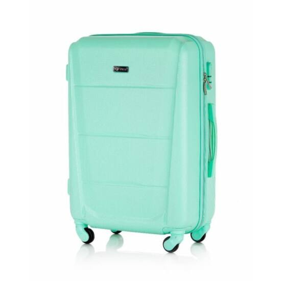 Solier utazó bőrönd, poggyász STL946 ABS zöld