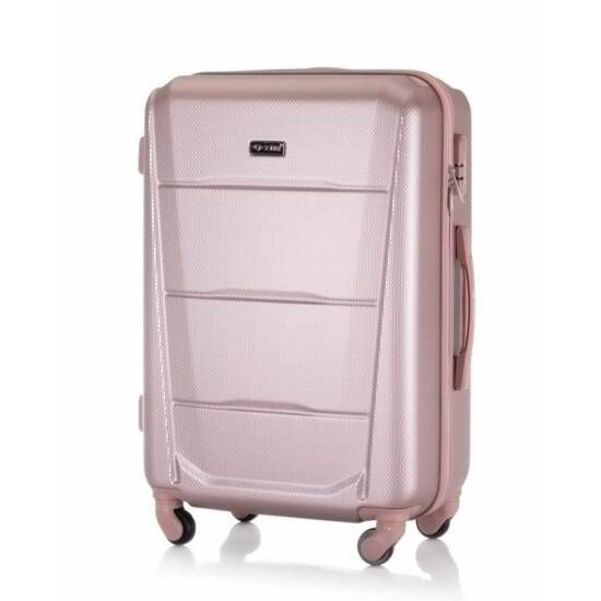 SUITCASE utazó bőrönd M STL946 ABS ROSE GOLD