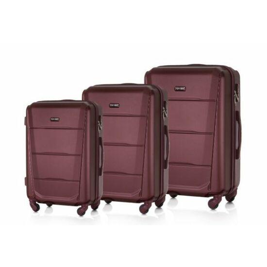 SUITCASE bőrönd szett STL946 ABS bordó