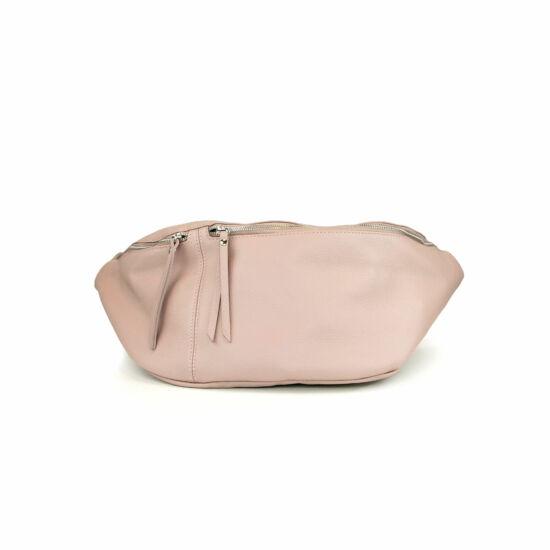 Bőr nagy méretű övtáska / rózsaszín