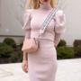 Kép 4/4 - Bőr crossbody táska / rózsaszín