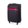 Kép 1/5 - Solier utazó bőrönd M STL1316 fekete-piros