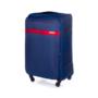 Kép 1/6 - Solier utazó bőrönd M  STL1316 sötétkék-piros